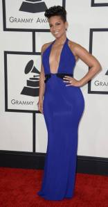 Alicia Keys in a customize Armani/Privé dress