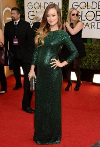 Olivia Wilde and her glowing bump in a Gucci gown