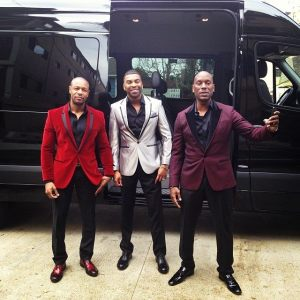 Tonight Grammy Nominated R&B TGT-Tank Ginuwine and Tyreses arrived at the grammys