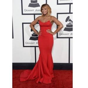 Reality Star of Tamar&Vince and Braxton Family Values and 3* times grammy nominated artists Tamar Braxton in Micheal Costello Couture