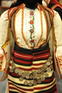 Macedonia Wedding Costume This is a Macedonian woman's wedding dress from Kicheviya