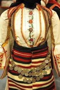Macedonia Wedding Costume This is a Macedonian woman's wedding dress from Kicheviya