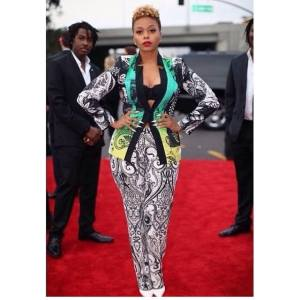 Chrisette Michele in a  ETRO Official suit