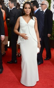 Scandal's very own glowing pregnant Olivia Pope Kerry Washington in a custom made Balenciaga