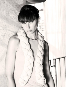 Stine Ladeford 2011 collection bursting with a mix of soft strands and bold, sculptural braids.