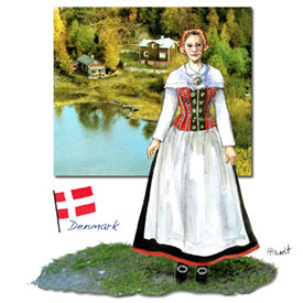 Danish traditional dress: