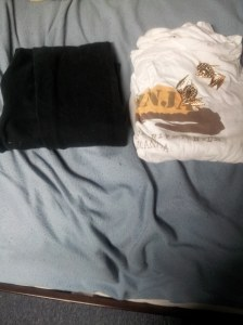 What i paired it with A simple white Uganda shirt i got from my dad with black Leggings