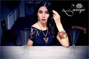 (Model wears Alyssa statement necklace, earrings & bangles).