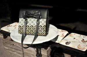 Zuri bags made with Capulana