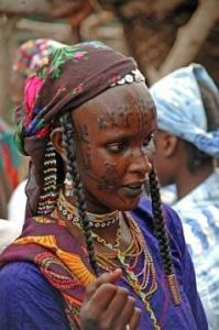 A Mbororo woman with facial scarification