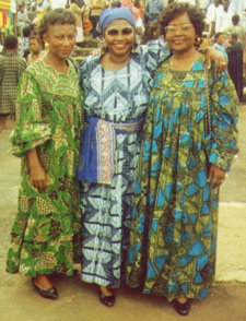 Bakweri women wearing Kabba in their traditional wear