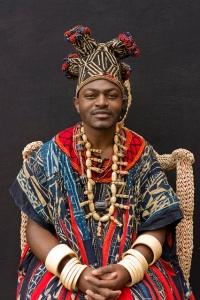 Bamileke King in traditional clothing